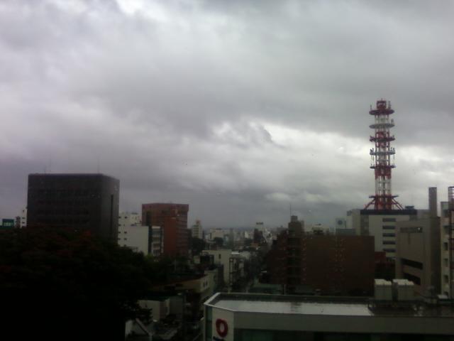 あいにくの天気ですが。